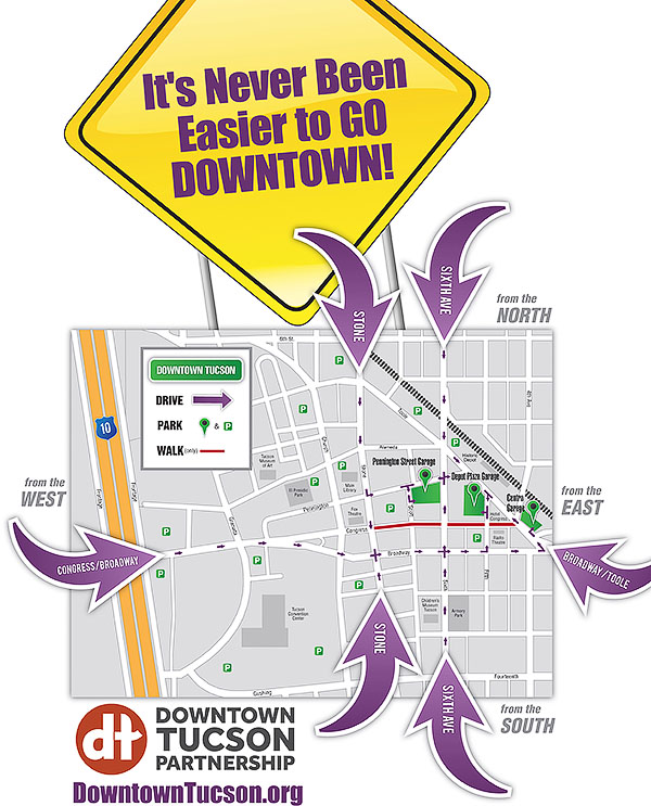 Downtown Tucson Access Map