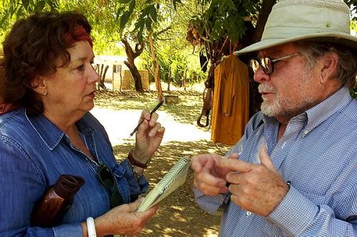 Etta Kralovec talking to Ernesto Camou
