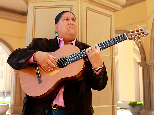 Native American Awards Artist of the Year and Yaqui guitarist Gabriel Ayala
